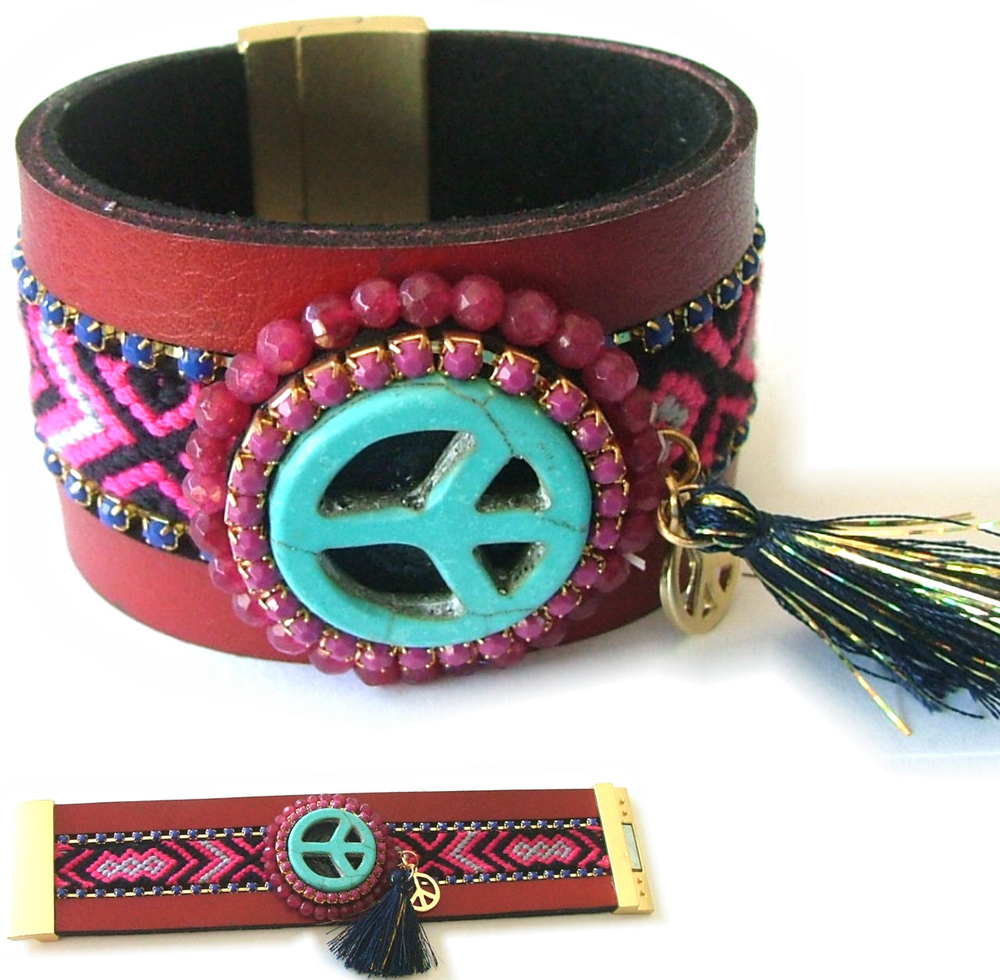 ibiza peace teken armband